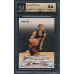 2009-10 Prestige #157 Stephen Curry RC (BGS 9.5)