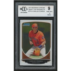 2013 Bowman Chrome Draft Top Prospects #TP10 Carlos Correa (BCCG 9)