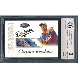 2007 Bowman's Best Prospects #BBP45 Clayton Kershaw AU (BCCG 9)