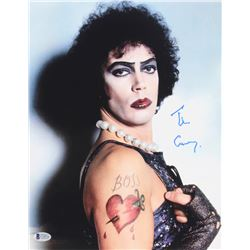 "Tim Curry Signed ""Rocky Horror Picture Show"" 11x14 Photo (Beckett COA)"