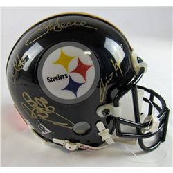 "Steelers ""Steel Curtain"" Mini Helmet Signed by (4) with Joe Greene, Ernie Holmes, Dwight White, L.C."