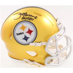 Joe Greene Signed Steelers Blaze Speed Alternate Mini-Helmet Inscribed  HOF 87  (JSA COA)