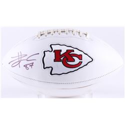 Travis Kelce Signed Chiefs Logo Football (Radtke COA)