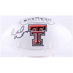 Patrick Mahomes II Signed Texas Tech Red Raiders Logo Football (JSA COA)