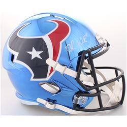 Deshaun Watson Signed Texans Full-Size Custom Chrome Speed Helmet (JSA COA)