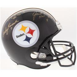 """Jack Lambert, Jack Ham  Andy Russell Signed Steelers Full-Size Helmet Inscribed """"HOF 88""""  """"HOF 90"""" ("""