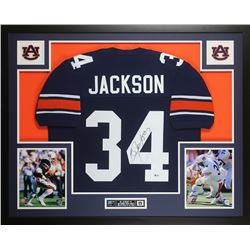 Bo Jackson Signed Auburn Tigers 35x43 Custom Framed Jersey Display (Beckett COA)