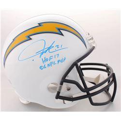 "LaDainian Tomlinson Signed Chargers Full-Size Helmet Inscribed ""HOF 17""  ""06 NFL MVP"" (Radtke COA  T"