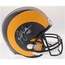 Marshall Faulk Signed Rams Full-Size Helmet (Radtke COA)