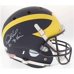 Desmond Howard Signed Michigan Wolverines Full-Size Helmet Inscribed  Heisman '91  (Radtke COA  Howa