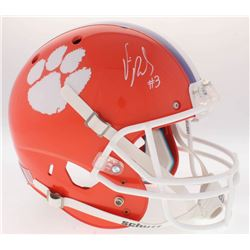 Vic Beasley Signed Clemson Tigers Full-Size Helmet (Radtke COA)