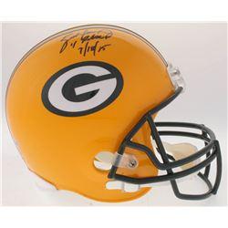 """Brett Favre Signed Packers Full-Size Helmet Inscribed """"4 Retired """"7/18/15"""" (Radtke COA)"""