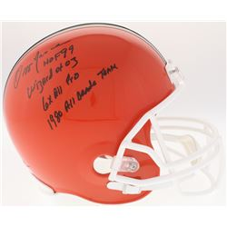 """Ozzie Newsome Signed Browns Full-Size Helmet Inscribed """"HOF 99"""", """"Wizard of Oz"""", """"6x All Pro""""  """"1980"""