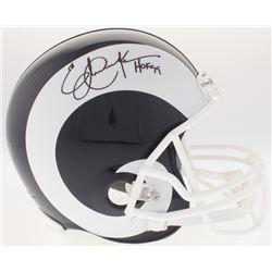 "Eric Dickerson Signed Rams Full-Size Helmet Inscribed ""HOF 99"" (JSA COA)"