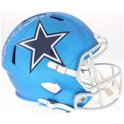 Ezekiel Elliott Signed Cowboys Full-Size Blaze Speed Helmet (Beckett COA)