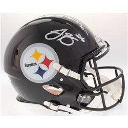 Le'Veon Bell  Antonio Brown Signed Steelers Full-Size On-Field Helmet (JSA COA)