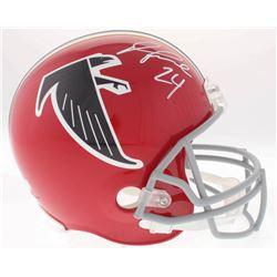 Devonta Freeman Signed Falcons Throwback Full-Size Helmet (Radtke COA)