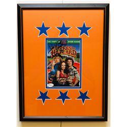 John Schneider, Tom Wopat  Catherine Bach Signed Dukes of Hazzard 13x17 Custom Framed DVD Display (J