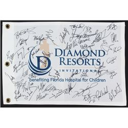 Diamond Resorts Invitational Golf Pin Flag Signed by (42) with Ray Allen, Larry Fitzgerald, Tom Glav