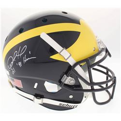 "Desmond Howard Signed Michigan Wolverines Full-Size On-Field Helmet Inscribed ""Heisman 91"" (Radtke C"