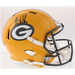 Sterling Sharpe Signed Packers Full-Size Speed Helmet (Radtke COA)