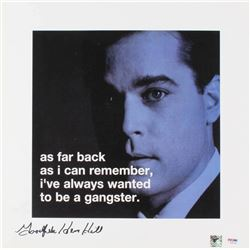 "Henry Hill Signed ""Goodfellas"" 16x16 Movie Poster Inscribed ""Goodfella"" (PSA COA  Hill Hologram)"