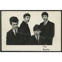 Pete Best, George Harrison  John Lennon Signed 3.5x5.5 Photo with (4) Inscriptions (JSA LOA)