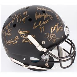 Custom Matte Black Full-Size Helmet Signed by (24) With Bo Jackson, Archie Griffin, Charlie Ward, Ma