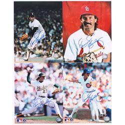 Lot of (4) Dennis Eckersley Signed 8x10 Photos (JSA ALOA)