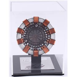 "Stan Lee Signed ""Iron Man"" Light Up Arc Reactor Movie Replica Prop with Display Case (Radtke COA  St"
