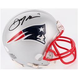 Julian Edelman Signed Patriots Mini Helmet (JSA COA)