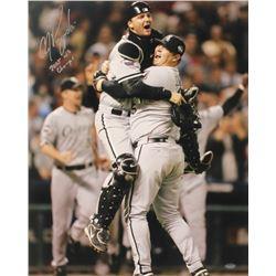 """A. J. Pierzynski Signed White Sox 16x20 Photo Inscribed """"2005 WS Champs"""" (Schwartz COA)"""