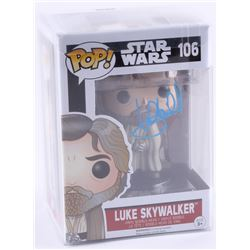 "Mark Hamill Signed ""Star Wars: The Force Awakens"" Luke Skywalker #106 Funko Pop Vinyl Bobble-Head Fi"