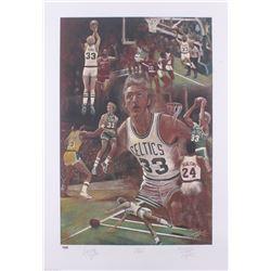Larry Bird Signed LE Celtics 20x29 Lithograph (PSA Hologram)