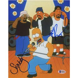 "B-Real  Sen Dog Signed ""The Simpsons"" 8x10 Photo (Beckett Hologram)"
