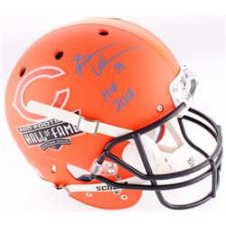 "Brian Urlacher Signed Bears Hall of Fame Logo Matte Orange Full-Size Helmet Inscribed ""HOF 2018"" (Be"