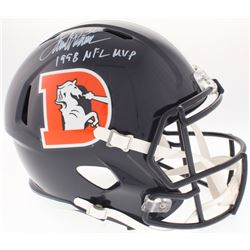 "Terrell Davis Signed Broncos Full-Size Speed Color Rush Helmet Inscribed ""1998 NFL MVP"" (Radtke COA)"