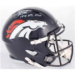 "Terrell Davis Signed Broncos Full-Size Speed Helmet Inscribed ""1998 NFL MVP"" (Radtke COA)"