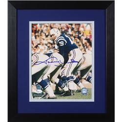 Johnny Unitas Signed Colts 13.75x15.5 Custom Framed Photo Display (JSA COA)