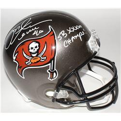 """Mike Alstott Signed Buccaneers Full-Size Speed Helmet Inscribed """"SB XXXVII CHAMPS!"""" (JSA COA)"""
