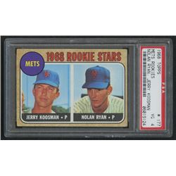 1968 Topps #177 Rookie Stars Jerry Koosman RC / Nolan Ryan RC (PSA 4)