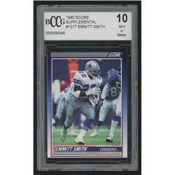 1990 Score Supplemental #101T Emmitt Smith RC (BCCG 10)