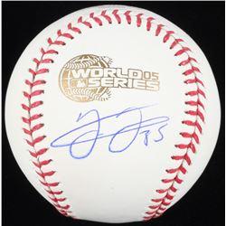 Frank Thomas Signed 2005 World Series Logo Baseball (Schwartz COA)