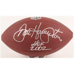 """Dan Hampton Signed NFL Football Inscribed """"HOF 2002"""" (Schwartz COA)"""