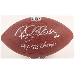 "Rocky Bleier Signed NFL Football Inscribed ""4x SB Champs"" (Schwartz COA)"