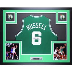 Bill Russell Signed Celtics 35x43 Custom Framed Jersey (JSA COA)