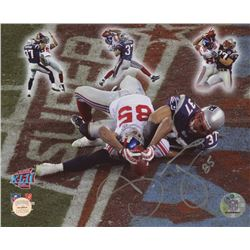 """David Tyree Signed """"Miracle in The Desert"""" Super Bowl XLII 8x10 Photo (Gridiron Legends COA)"""