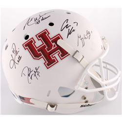 """""""Quarterback Combo"""" Houston Cougars Full-Size Helmet Signed By (5) with Case Keenum, Greg Ward Jr.,"""