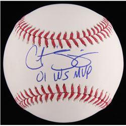 """Curt Schilling Signed OML Baseball Inscribed """"01 WS MVP"""" (JSA COA)"""
