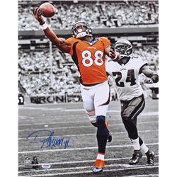 Demaryius Thomas Signed Broncos 16x20 Photo (PSA COA)
